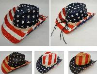 Americana Cowboy Hat [Stars and Stripes] Hatband with Stars